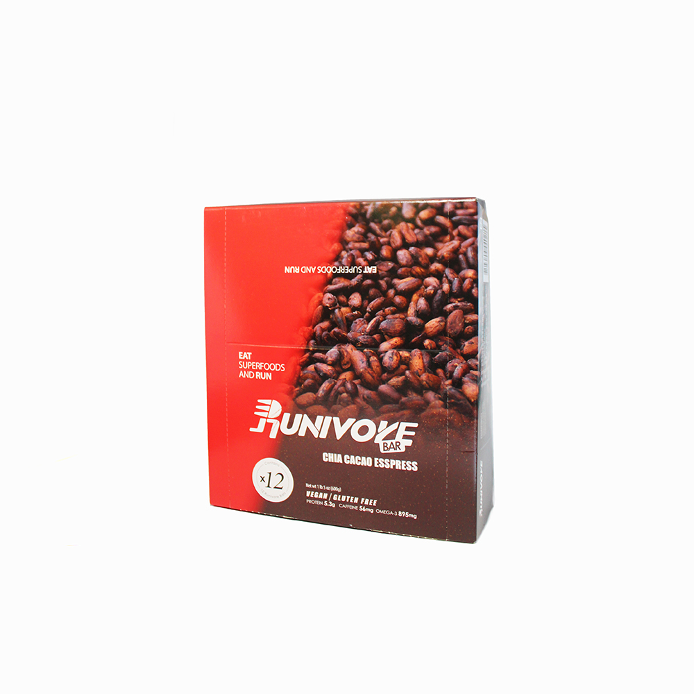 Runivore chia cacao esspress superfood bar box of 12 for Superfood bar