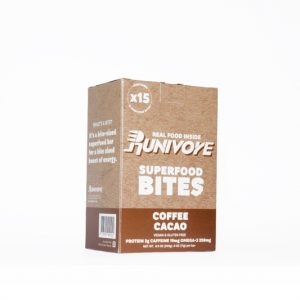 Runivore Coffee Cacao Bites (15 Count) – The deliciousness and power of chia, cacao and coffee