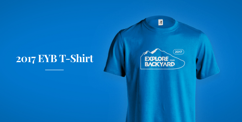 Explore Your Backyard Blue Tshirt