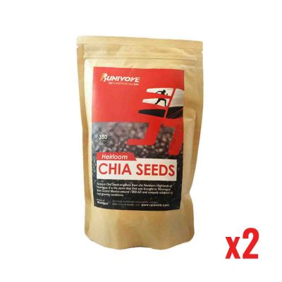 SALE! – Runivore Heirloom Chia Seeds (350g x 2) – Omega-3 rich chia seeds grown the same and best way for thousands of years
