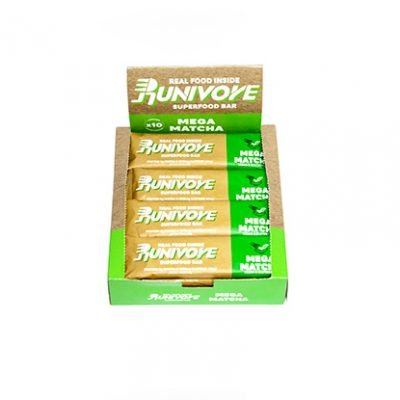 Runivore Mega Matcha Superfood Bar (Box of 10) – Caffeine boost and Antioxidant Power of Green Tea in Delicious Bars