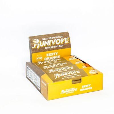 Runivore Zesty Orange Superfood Bar (Box of 10) – Refreshing Citrus Taste in a Well Balanced Energy Bar
