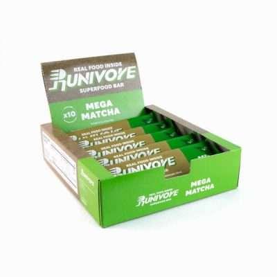 Runivore Mega Matcha Superfood Bar (Box of 10) – Delicious Green Tea Energy Bars