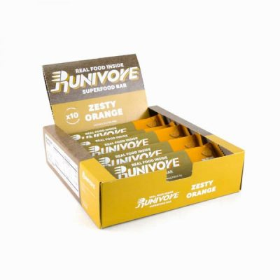 Runivore Zesty Orange Superfood Bar (Box of 10) – Refreshing Citrus Taste in a Well Balanced Energy Bar