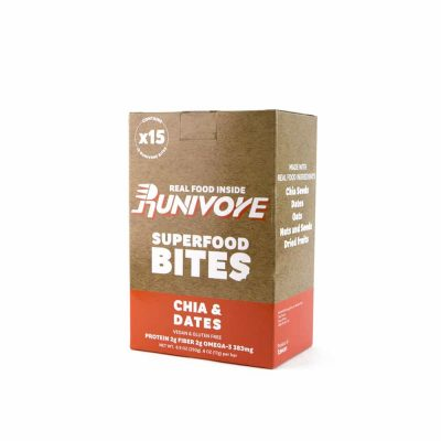 Runivore Chia & Dates Superfood Bites (15 Count) – Mother Nature did the heavy lifting, we just combined tasty foods into an awesome bar