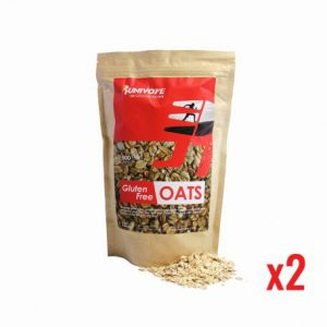 Runivore Gluten Free Oats – 2x 500g bags – pesticides- and gluten-free oats give you powerful yet slow-releasing energy